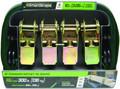SmartStraps SMAR153 Ratchet - Tie-Downs 10' 900# Green 4Pk - SMAR153