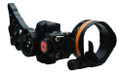 Apex Gear AG2311B Covert Single Pin - Bow Sight, 1 Light, Versa-Pin, Black - AG2311B