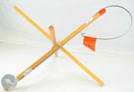 EXPLORER WOOD STICK TIP-UP W/ 200' METAL SPOOL W/ DRAG