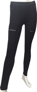 Black Backpocket Zipperfront Pants