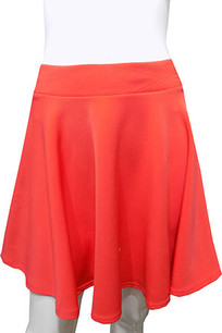 Orange Scuba Skirt