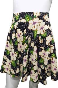 Black Rose Printed Skirt