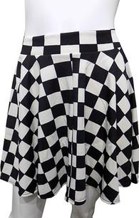 Black/White Checkered Skirt
