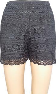 SH03 Black Crochet Shorts