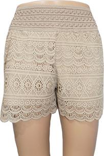 SH03 Taupe Crochet Shorts