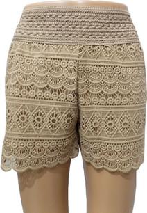 SH03 Mocha Crochet Shorts