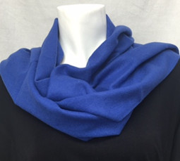 Blue Cashmere-Feel Scarf