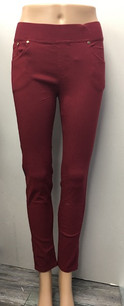 0023 Burgundy Jeggings