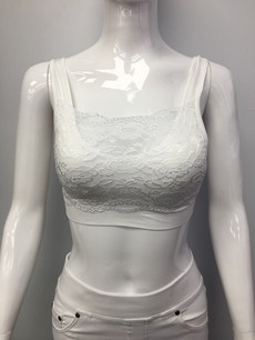B03 White Lace Bra
