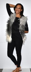 M08 Grey/White Faux Fur Vest