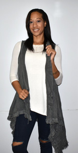Dark Grey Knit Vest