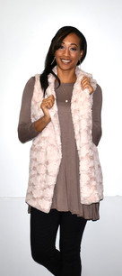 2225 Blush Faux Fur Vest