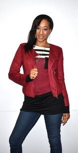 7888 Red Trendy Short Jacket