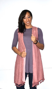 16329 Mauve Crystal Washed Tank Vest