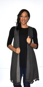 16329 Black Crystal Washed Tank Vest