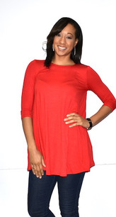 4032 Red Pocket Dress