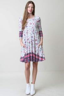 3671 Criss Cross Back Pocket Dress