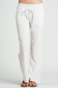 24833 Ivory Linen Pocket Drawstring Pant