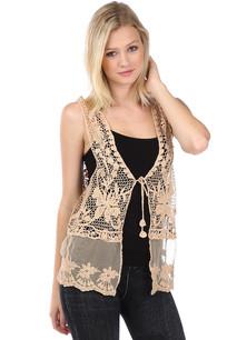 LTX-001 Taupe Crochet Vest