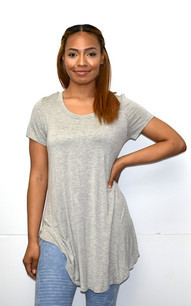 1602 Grey Piko Top