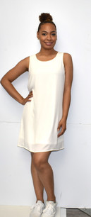 4031 White Fully Lined Tank Dress