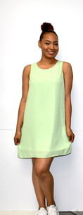 4031 Light Green Fully Lined Tank Dress