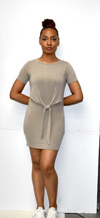 266 Camel Front Knit Tunic Dress