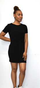 266 Black Front Knit Tunic Dress