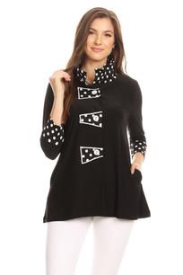 469 Black Polka Jacket