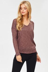 6026 Raisin Lightweight Sweater Top