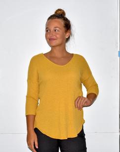 17268 Yellow Gauze Sweater
