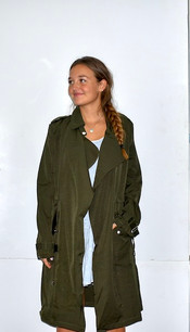 324262 Olive Trench Jacket