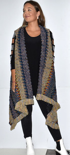 Blue/Gold Multicolored Knit Vest