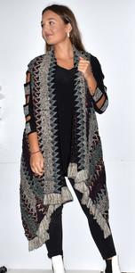 Dark Multicolored Knit Vest