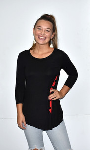 4053 Red/Black Contrast Trim Side Button Top