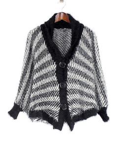 60131 Black w/ Black Border Sweater Vest