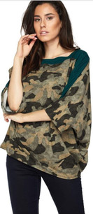 83809 Green Camouflage Top