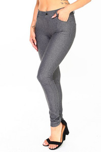 251 Grey 5 Pocket Jeggings