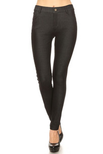 251 Black 5 Pocket Jeggings