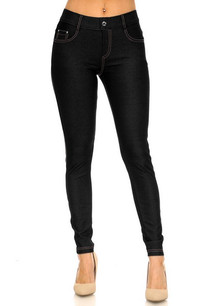 201 Black 5 Pocket Skinny Jeggings