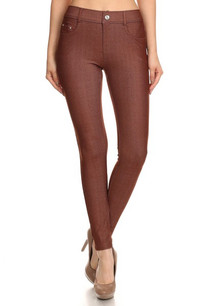 201 Coffee 5 Pocket Skinny Jeggings