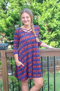 34744 Auburn Inspired Gameday Dress