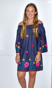 2011 Denim Colored Embroidered Tunic