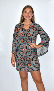 2214 Dark Multicolored Sweater Dress