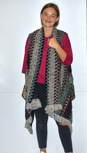 AZ001 Dark Patterned Aztec Heavy Textured Sweater Vest