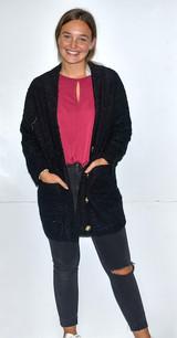 5624 Black Sweater Cardigan