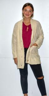 5624 Tan Sweater Cardigan