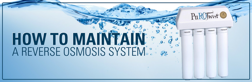 How to maintain a reverse osmosis system