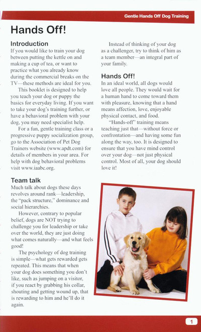 Ebook gentle hands off dog training dogwise solutions dogwise cover back cover page1 fandeluxe Document