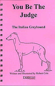 Ebook you be the judge the italian greyhound dogwise fandeluxe PDF
